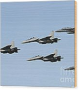 Sukhoi Su-30 Mkm Aircraft And Fa-18 Wood Print