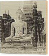Buddha Sukhothai Thailand 1 Wood Print