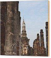 Sukhothai Historical Park - Sukhothai Thailand - 011320 Wood Print by DC Photographer