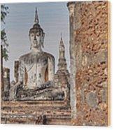 Sukhothai Historical Park - Sukhothai Thailand - 011332 Wood Print