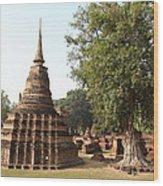 Sukhothai Historical Park - Sukhothai Thailand - 011333 Wood Print