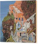 sul mare Greco Wood Print by Guido Borelli