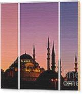 Suleymaniye Sundown Triptych 01 Wood Print