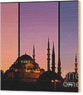 Suleymaniye Sundown Triptych 02 Wood Print