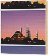 Suleymaniye Sundown Triptych 03 Wood Print