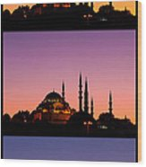 Suleymaniye Sundown Triptych 04 Wood Print by Rick Piper Photography