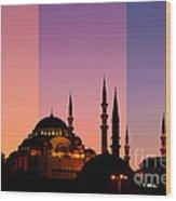 Suleymaniye Sundown Triptych 05 Wood Print