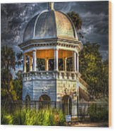 Sulfur Springs Gazebo Wood Print