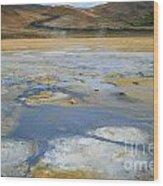 Sulphur And Volcanic Earth Wood Print