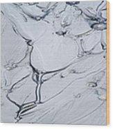 Sulphur Caldron Mud Art Yellowstone Wood Print