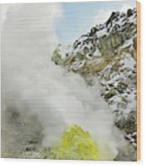 Sulphur Deposits Wood Print