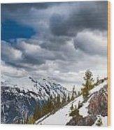 Sulphur Mountain Up High Wood Print