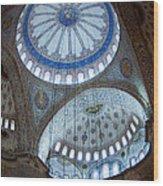 Sultan Ahmed Camii Blue Mosque Istanbul Turkey Wood Print