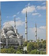 Sultan Ahmed Mosque Landmark In Istanbul Turkey Wood Print