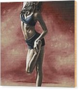 Sultry Dancer Wood Print