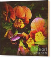 Sultry Nights - Flower Photography Wood Print