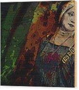 Sum Angle Gothic Portrait Wood Print