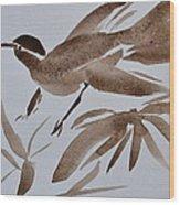 Sumi Bird Wood Print