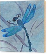Sumi Dragonfly Wood Print