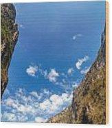 Sumidero Canyon Sky Wood Print