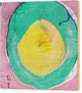 Suminagashi Circles Wood Print