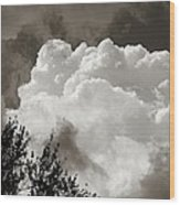 Summer Afternoon Cloudscape Wood Print