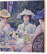 Summer Afternoon Tea In The Garden-1901 Wood Print