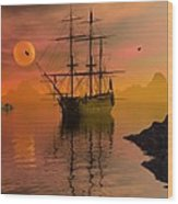 Summer Anchorage Wood Print by Claude McCoy
