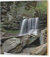 Summer At B Reynolds Falls Wood Print