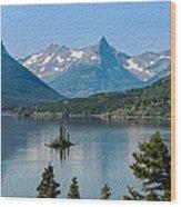 Summer At Glacier National Park Wood Print
