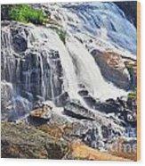 Summer At The Falls Wood Print