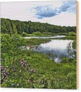 Summer At The Green Bridge Wood Print