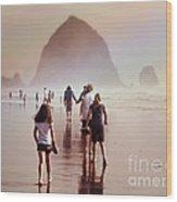 Summer At The Seashore  Wood Print