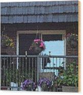 Summer Balcony Wood Print