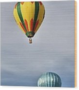 Summer Balloons Wood Print