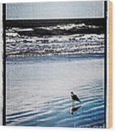 Summer Beach Wood Print by Perry Webster