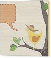 Summer Bird Wood Print