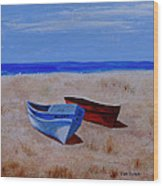 Summer Boats Wood Print