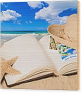 Summer Book Wood Print
