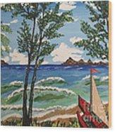 Summer Breeze Wood Print