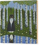 Summer Cat Wood Print