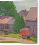 Summer Cottages Maine Wood Print