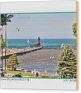 Summer Day At South Haven Mi Wood Print