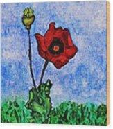 Summer Day Poppy Wood Print