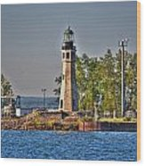 Summer Day View Of The Lighthouse  Wood Print