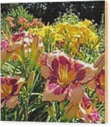 Summer Daylilies Wood Print