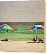 Summer Days At The Beach Wood Print