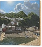 Summer Evening Clovelly North Devon Wood Print