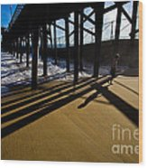 Summer Evening In Seal Beach Wood Print