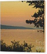 Summer Evening On Cayuga Lake Wood Print